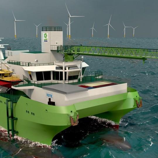 Image: Vuyk Engineering Rotterdam designs first SWATH type SOV for DEME